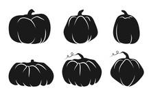 Autumn Pumpkin Glyph Icons Set...
