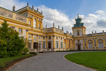 Beautiful View On Royal Wilanow Palace Located In The Wilanów District, Warsaw