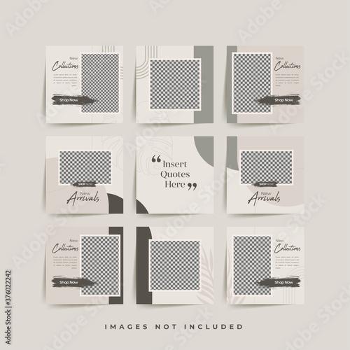 social media puzzle frame grid post template for fashion sale promotion Premium Fototapet