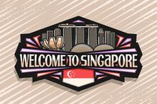 Vector Logo For Singapore, Bla...