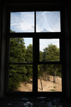 View Through Broken Window In ...