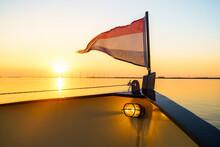 Waving Dutch Tricolor Flag Dur...