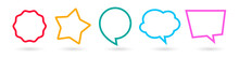 Set Of Colorful Speech Bubbles And Shapes