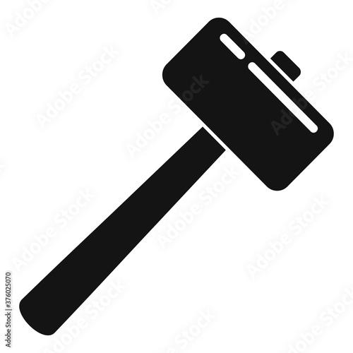 Fototapeta Tiler sledge hammer icon