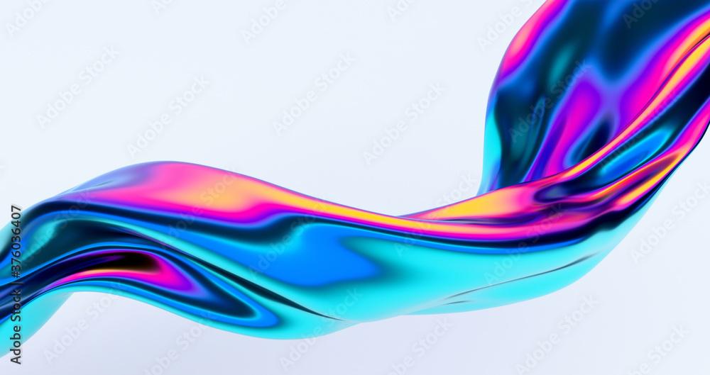 Abstract 3d render, colorful background design, modern illustration