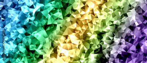 キラキラしたアブストラクト背景 青と緑と黄色と紫色のグラデーション Fototapet
