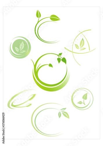Obraz na płótnie leaves, plant, icons , nature, Eco friendly business logo