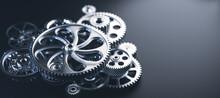 Gears And Cogs Mechanism. Indu...