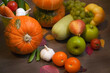 Blurred organic food natural background