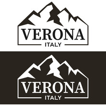 Verona Typography Design Vector, For T-shirt, Poster And Other Uses