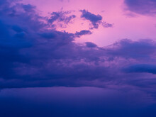 Horizontal Photo Intense Blue ...