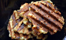 Grilling Curd Waffles. Sweet P...
