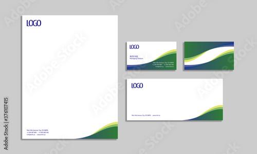 Fotografija set of corporate stationery design, template, business stationery