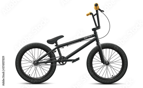 Stampa su Tela Black BMX bicycle mockup - right side view