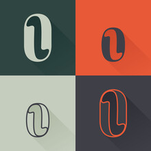 Classic O Letter Logo Set In Renaissance Style.