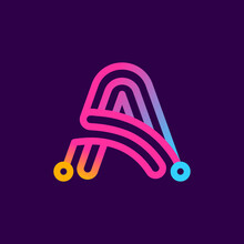 Multicolor A Letter Logo Made ...