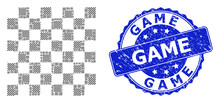 Rubber Game Round Seal Stamp A...
