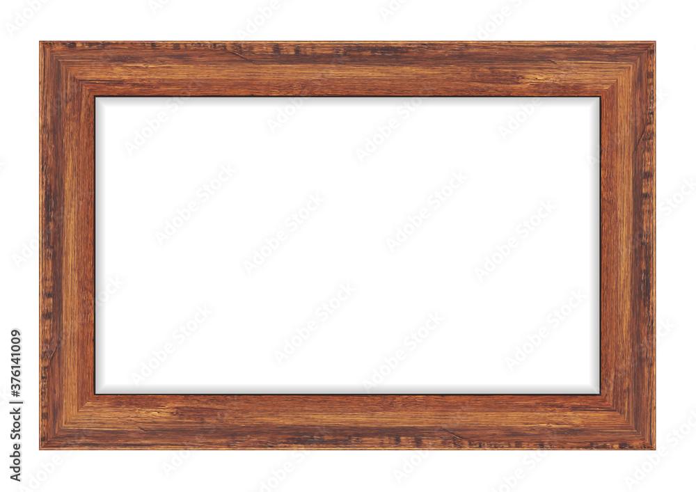 Fototapeta Wood frame isolated on white background. Vector illustration eps 10