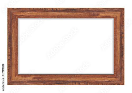 Obraz Wood frame isolated on white background. Vector illustration eps 10 - fototapety do salonu