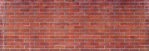 Obraz na plátně red brick wall panoramic