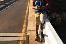 Male Athlete With Prosthetic Leg