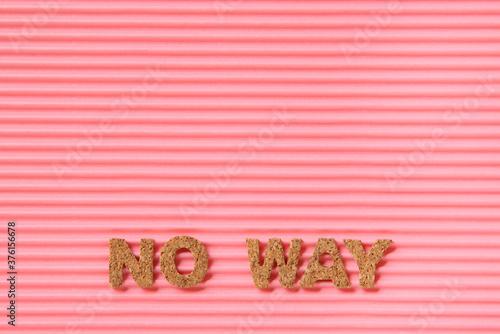 Photo アルファベットNo way
