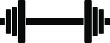 Dumbbell Clipart Vector Design.