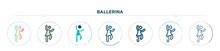 Ballerina Icon Designed In Gra...