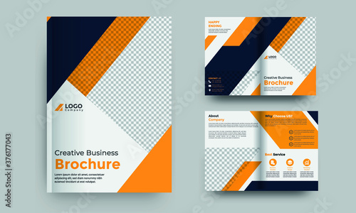 Foto Corporate brochure template or company profile Premium Vector
