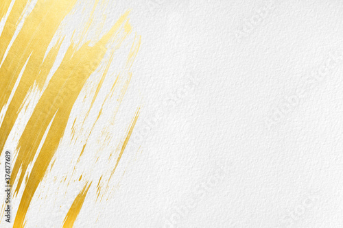 Fototapeta 白地背景テクスチャ和紙金インク