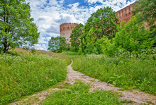 Fortress Wall And Tower Oryol (Gorodetskaya). Smolensk. Russia