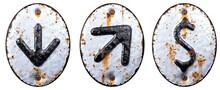 Set Of Symbols Arrow To Down, ...
