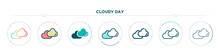 Cloudy Day Icon Designed In Gr...