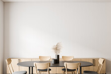 White Dining Room Interior, Cl...