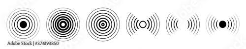 Fotografie, Obraz Set of different radar icons