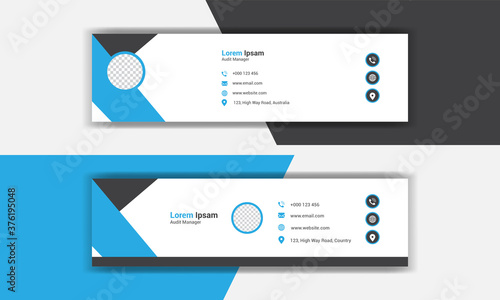 Foto creative modern Corporate email signature collection set.