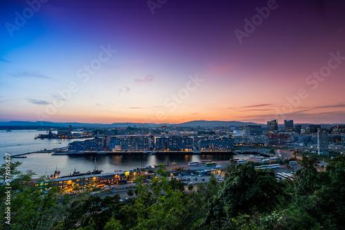Canvas Print Oslo Cityscape