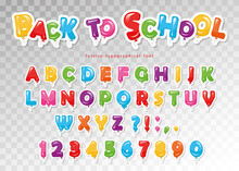 Back To School. Balloon Paper ...