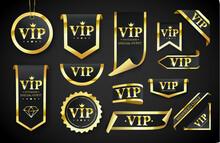 Vip Label, Badge Or Tag. Vecto...