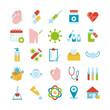 bundle of twenty five medical set icons