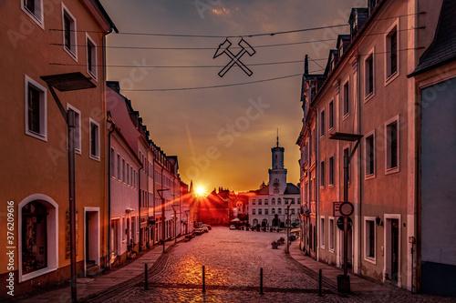 Fotografie, Obraz Stadtfotos  Dortmund Gelsenkirchen Schneeberg