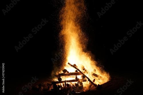 Lagerfeuer bei Nacht Canvas Print