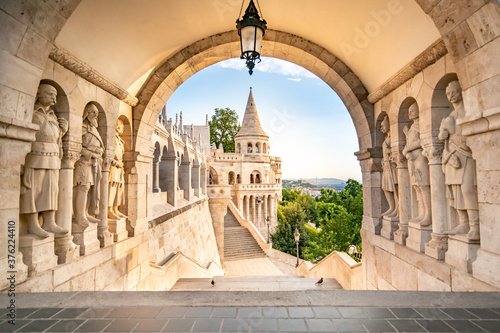 Fisherman's Bastion in Budapest, Hungary. Poster Mural XXL