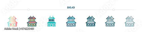 Fotografija dojo icon designed in gradient, filled, two color, thin line and outline style