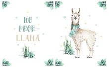 Cute Watercolor Llama, Alpaca ...