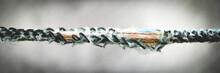 Old Damaged Torn Rope Closeup ...