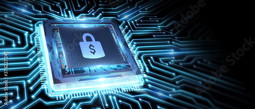 Fototapeta Cyber security data protection business technology privacy concept. obraz