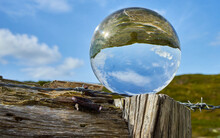 Crystal Ball On A Weathered Wo...