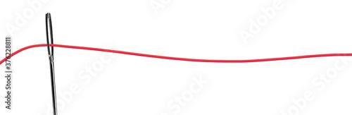 Roter Faden im Nadelöhr