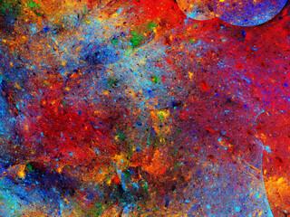 Panel Szklany Podświetlane Abstrakcja abstract chaotic fractal background 3D rendering illustration